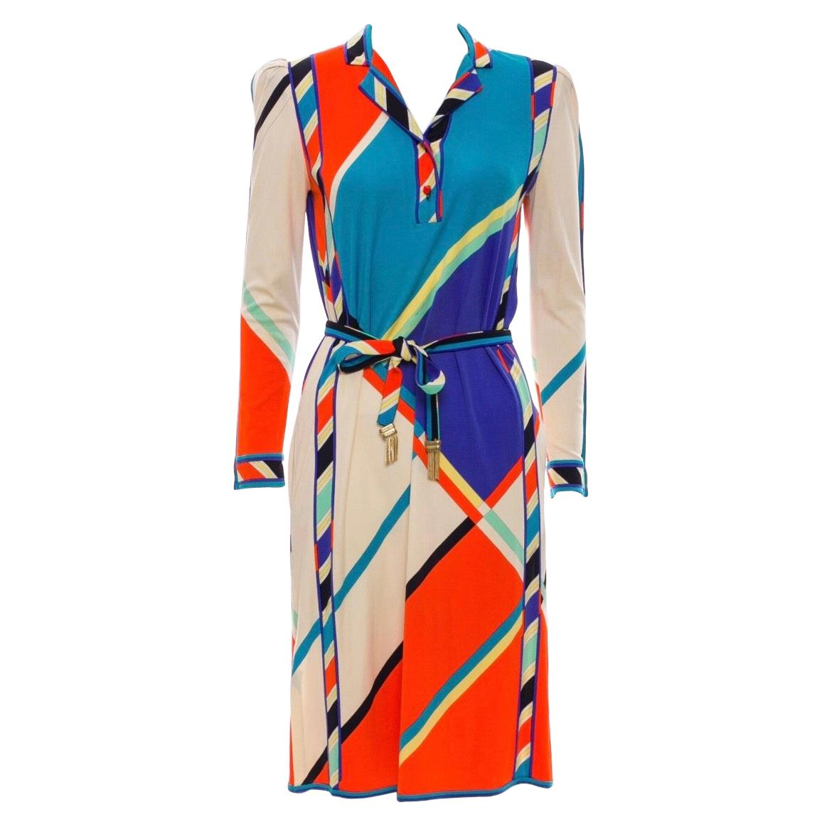 Leonard Paris 1970s Printed Silk Jersey Dress