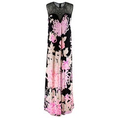 Leonard Paris Black Lace Detailed Sleeveless Gown M 44