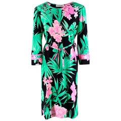 Leonard Paris Floral Textured Knee Length Dress - Size US 10