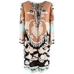 Leonard Paris Light Brown Abstract Pattern dress - Size US 10