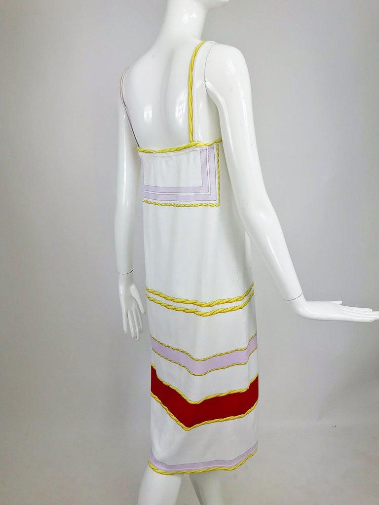 Women's Leonard Paris Novelty Printed Cotton Knit Sun Dress 1980s For Sale