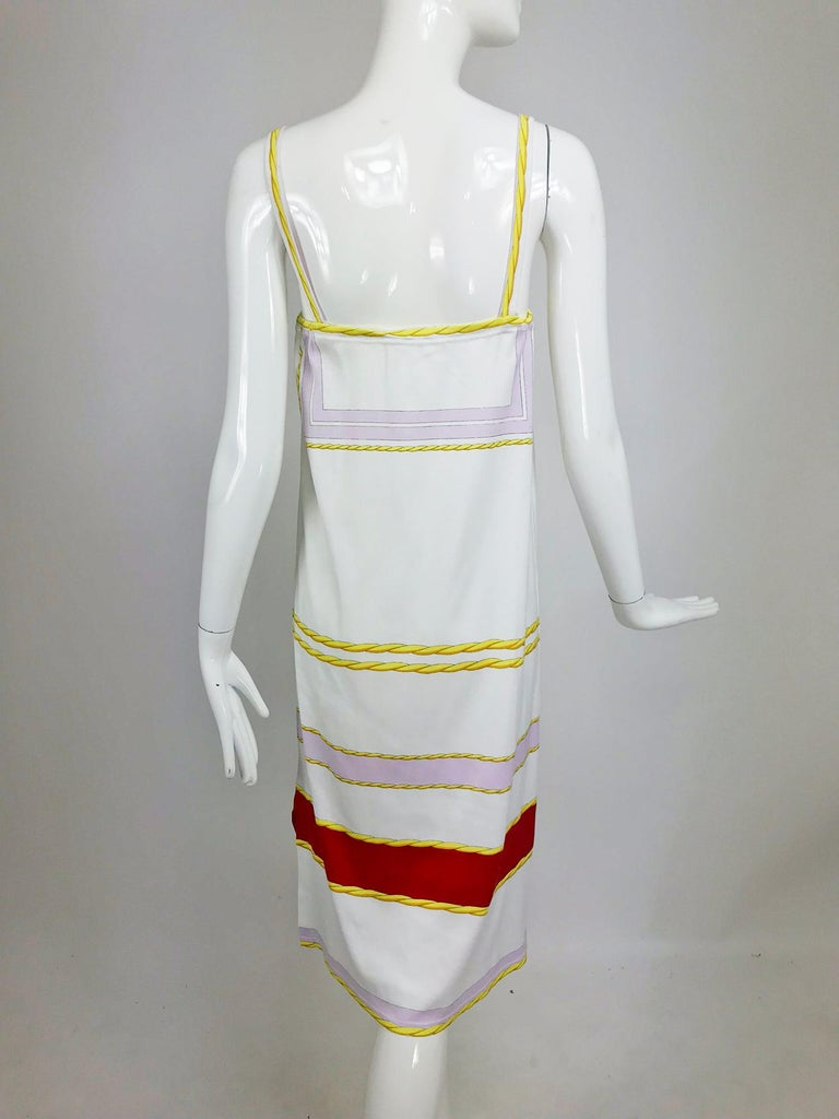 Leonard Paris Novelty Printed Cotton Knit Sun Dress 1980s For Sale 1