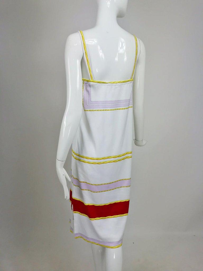 Leonard Paris Novelty Printed Cotton Knit Sun Dress 1980s For Sale 2
