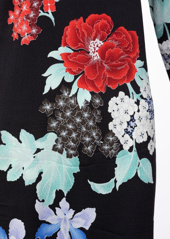 Leonard Paris Silk Floral Print Dress, 2000s For Sale 1