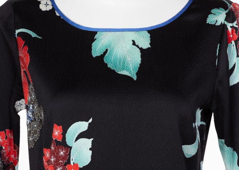 Leonard Paris Silk Floral Print Dress, 2000s For Sale 2
