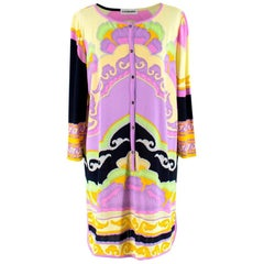Leonard Purple Pink and Black Patterned Shirt Dress - Size US 8