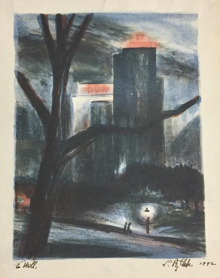 Leonard Pytlak Landscape Print - RCA Building