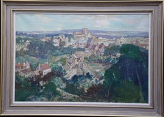 French Landscape Les Andeleys - British 40s Impressionist art oil painting