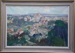 French Landscape Les Andeleys - British 40s Impressionist art oil painting