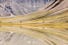 Reflections and Mining Equipment, documentary travel landscape photograph