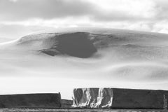 Leonard Sussman, Tabular Icebergs and Glacier, documentary digital print