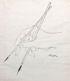 Hand of the Artist - Lithograph - Printed Signature