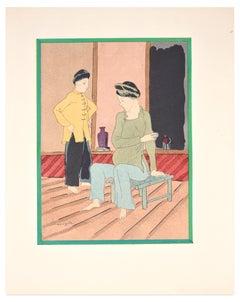 Pregnant Woman - Lithograph after L.T. Foujita - 1928