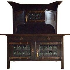 Leonard Wyburd for Liberty & Co Oak Arts & Crafts Sideboard Dresser, circa 1920