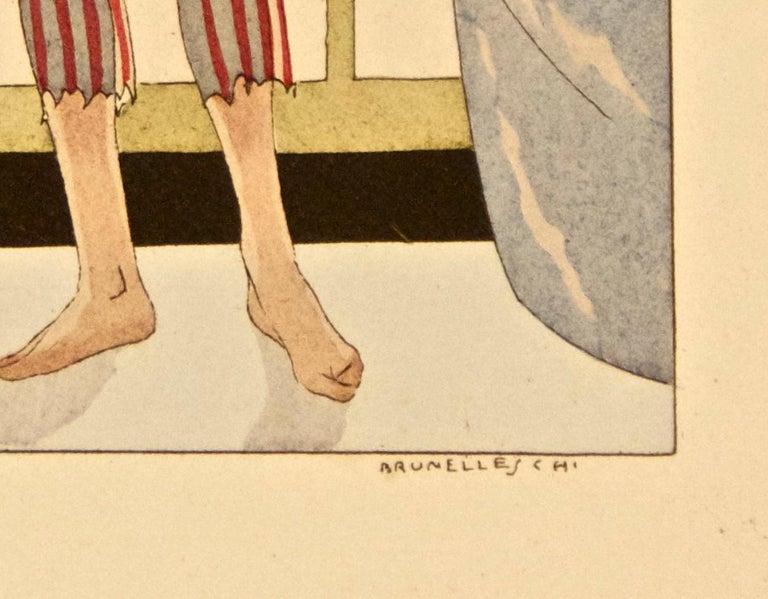 Male Figure - Original Stencil by Leonardo Brunelleschi - 1920 ca. For Sale 1