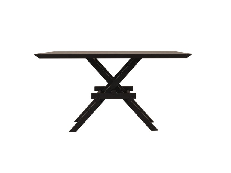 Leonardo Contemporary Table Made of Ashwood with Interlocking Legs In New Condition For Sale In Salizzole, IT