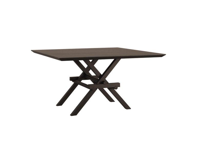 Leonardo Contemporary Table Made of Ashwood with Interlocking Legs For Sale 2