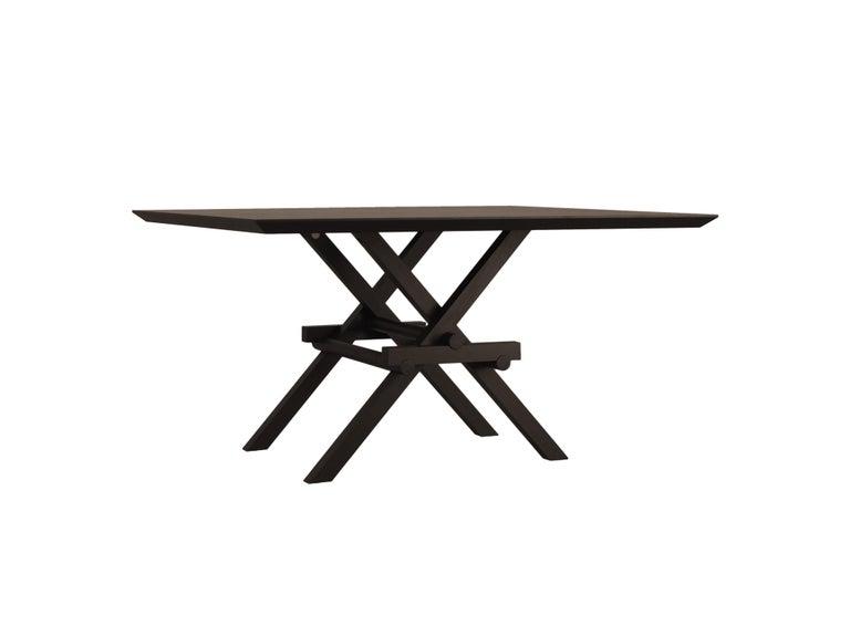 Leonardo Contemporary Table Made of Ashwood with Interlocking Legs For Sale 3
