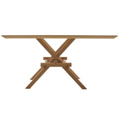 Leonardo Contemporary Table Made of Ashwood with Interlocking Legs