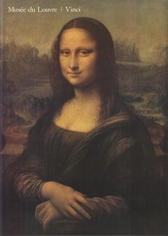 After Leonardo Da Vinci 'Mona Lisa' Renaissance France Offset Lithograph