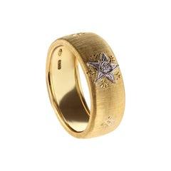 Yellow Gold 18kt Leonardo da Vinci Cut Caterina Band Ring