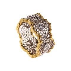White and Yellow Gold 18Kt Diamond Leonardo da Vinci Cut Cecilia Ring
