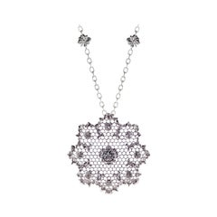 White Gold 18kt 0.69 Carat Leonardo da Vinci Cut Monnalisa Diamond Necklace