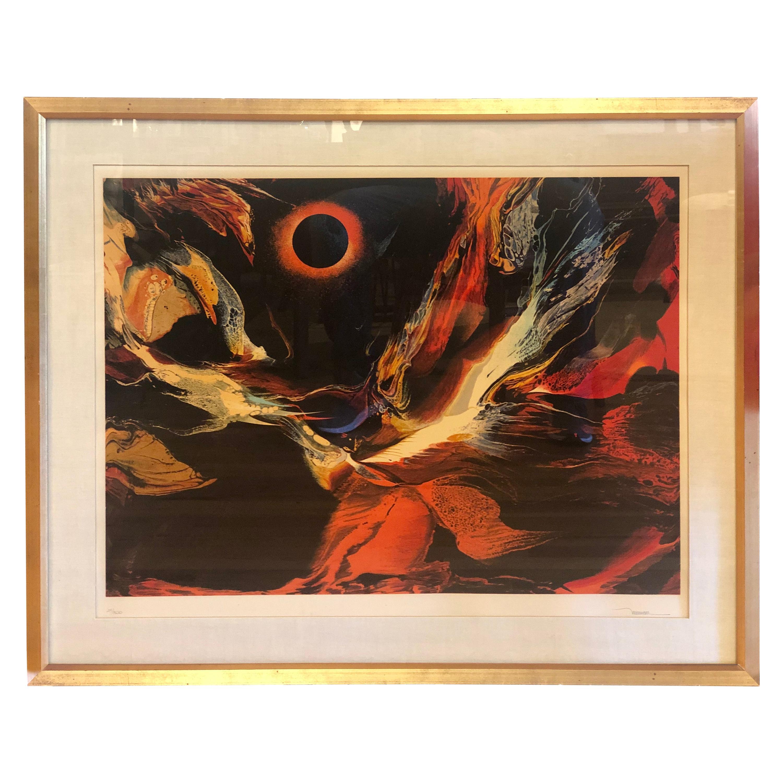 Leonardo Nierman Eclipse Serigraph Pencil Signed Edition 24/300