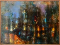 Ciudad Prismatica, Abstract Painting by Leonardo Nierman