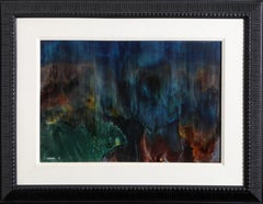 Crater, Abstract Oil Painting by Leonardo Nierman