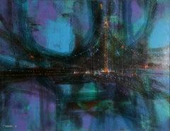 El Puente (Variation), Oil Painting by Leonardo Nierman