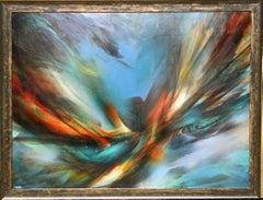 Flight, Large Abstract Painting by Leonardo Nierman