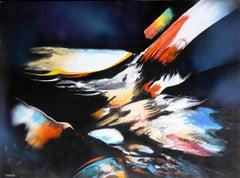 Lightspeed, Large Abstract Painting by Leonardo Nierman