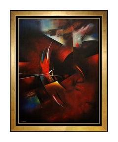 Leonardo NIERMAN PAINTING Original Oil on Board Authentic Signed Cosmic Art HUGE