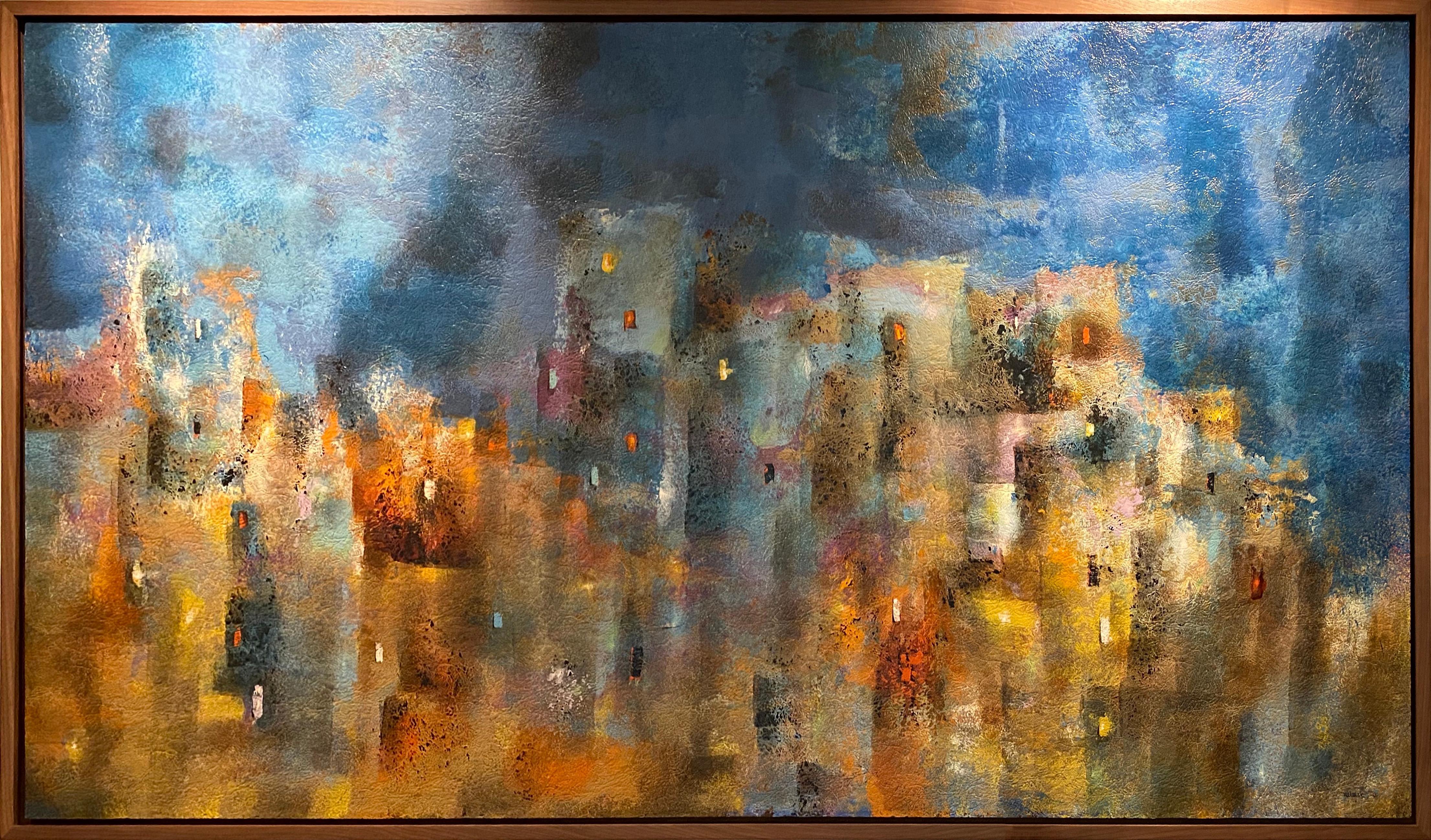 Ruinas, Abstract Painting by Leonardo Nierman