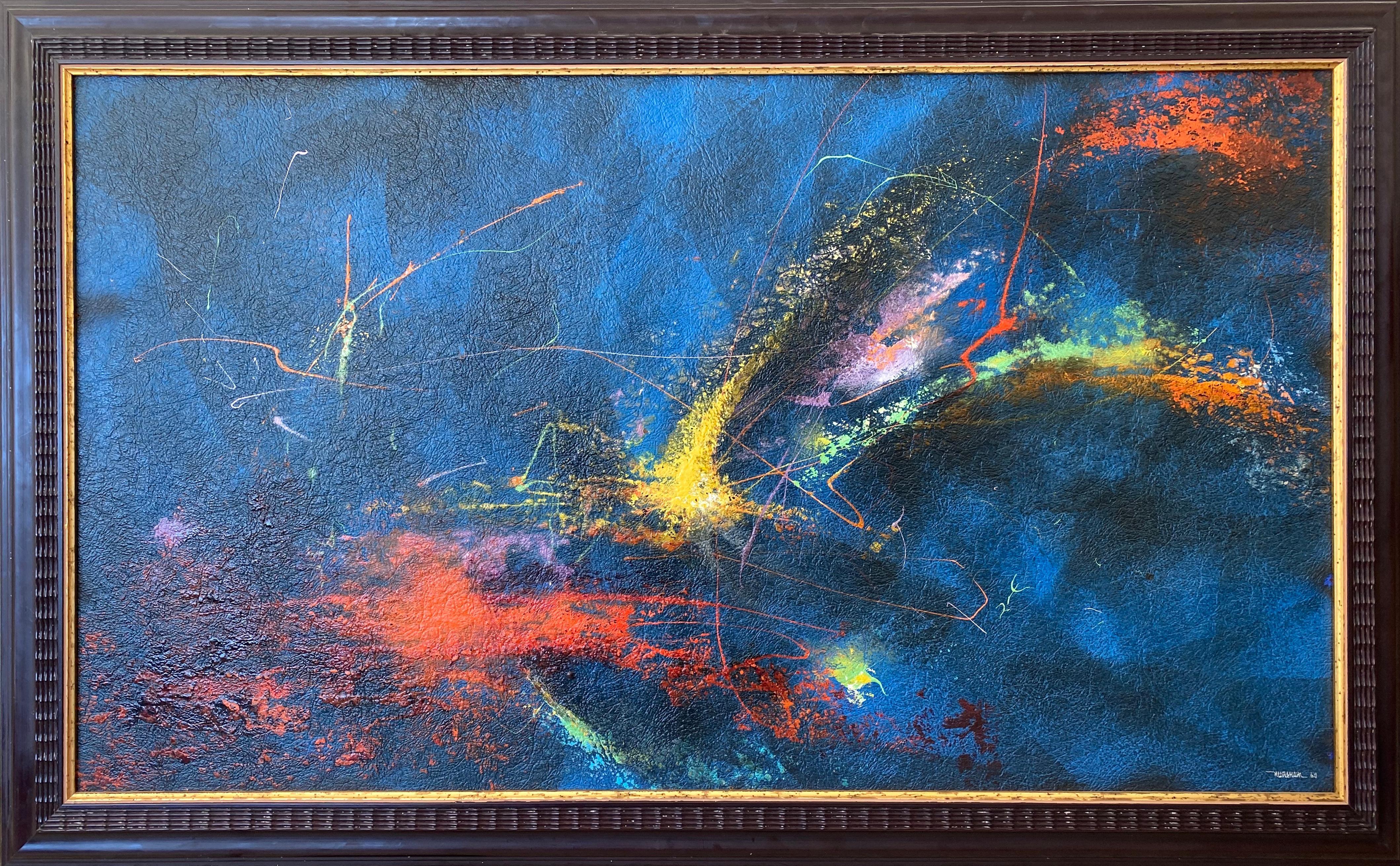Systema Solar, Abstract Painting by Leonardo Nierman