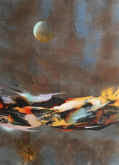 Cosmic Energy Suite 1, Abstract Lithograph by Nierman
