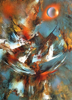 Cosmic Energy Suite 3, Abstract Lithograph by Nierman