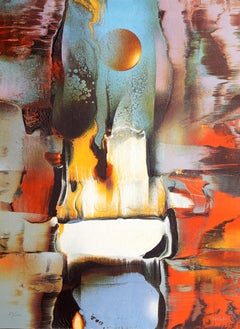 Cosmic Energy Suite 4, Abstract Lithograph by Nierman