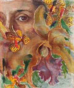 'Self Portrait with Orchids', National Association of Women Artists, AWS