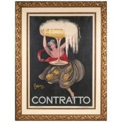 Leonetto Cappiello 'France, 1875-1942' 1922 Contratto Lithograph Poster