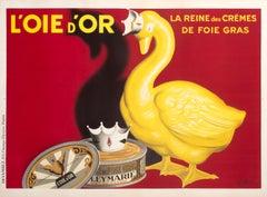 """""""L'Oie d'Or"""" Original Vintage Foie Gras Poster"""