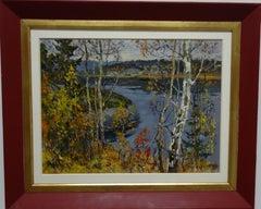 """""""Autumn"""" Karelia  Oil  cm. 32 x 41  1975"""