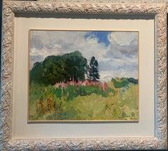 """Ivan Chai"" Russia Oil cm. 37 x 45 1981 Green,Pink"