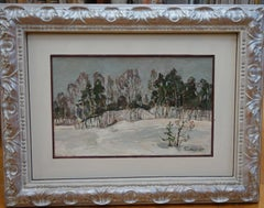 """Near the forest""  Oil  cm. 46 x 30   1987"
