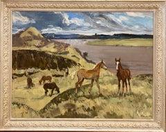 """""""Wild horses"""" Oil cm. cm. 115 x 89 1975"""