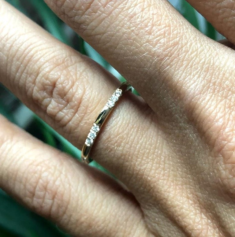 Women's Leonie Ring with White Diamonds in Rose Gold by Selin Kent For Sale