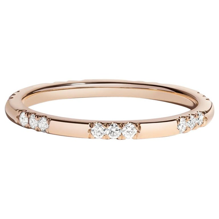 Leonie Ring with White Diamonds in Rose Gold by Selin Kent For Sale