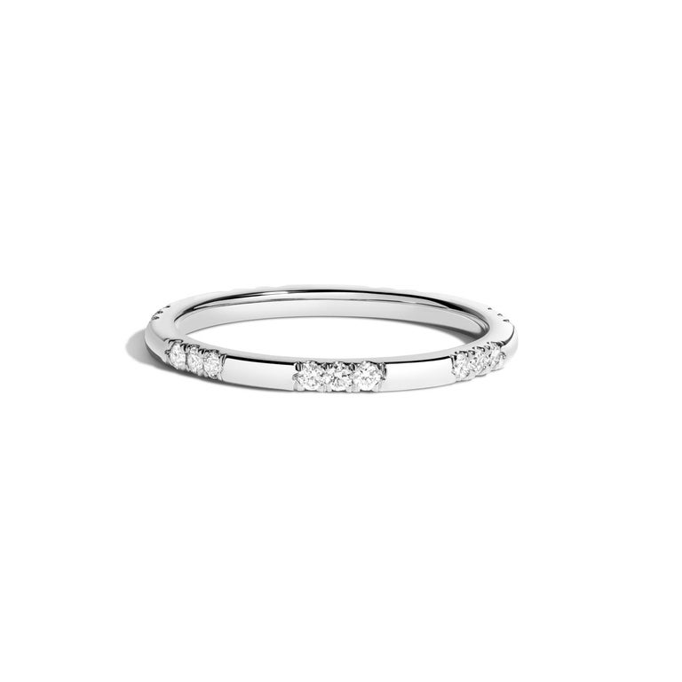 Contemporary Leonie Ring with White Diamonds in Yellow Gold by Selin Kent For Sale