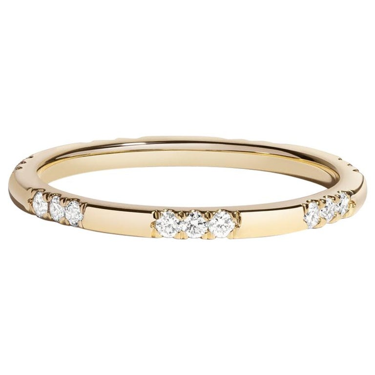 Leonie Ring with White Diamonds in Yellow Gold by Selin Kent For Sale